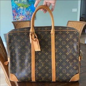 No Sticky! Like New! Louis Vuitton Briefcase Auth!
